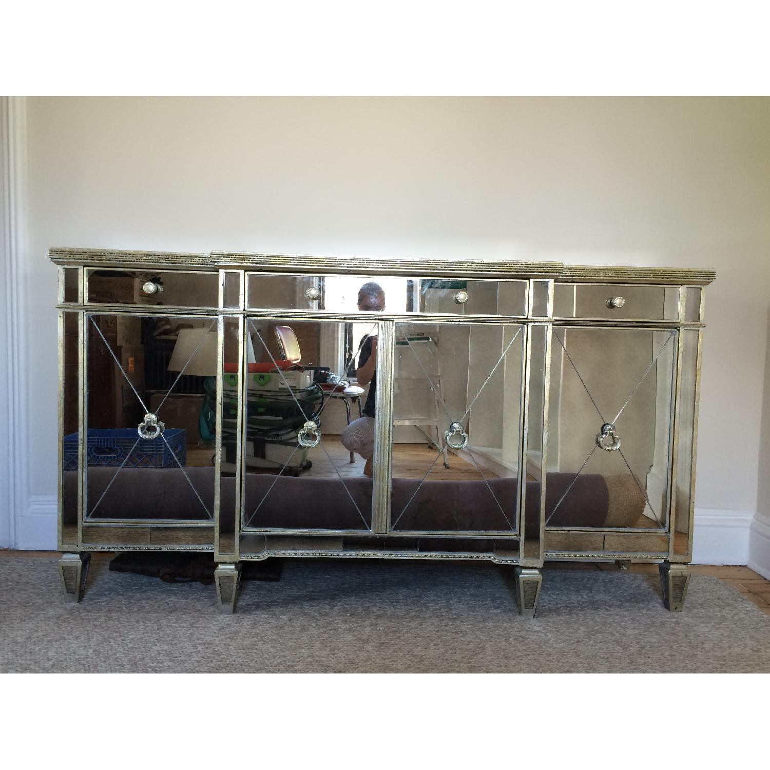 Horchow Mirrored Console - image-4