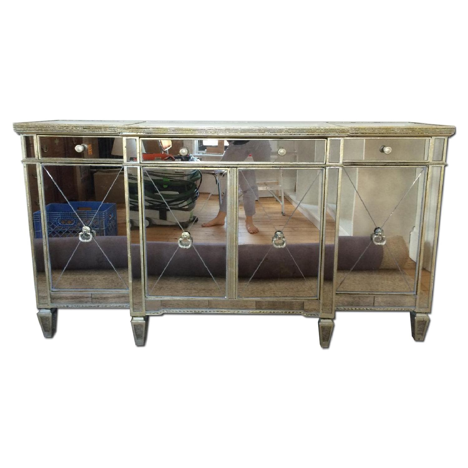 Horchow Mirrored Console - image-0