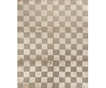 Modern Contemporary Hand Knotted Wool Rug