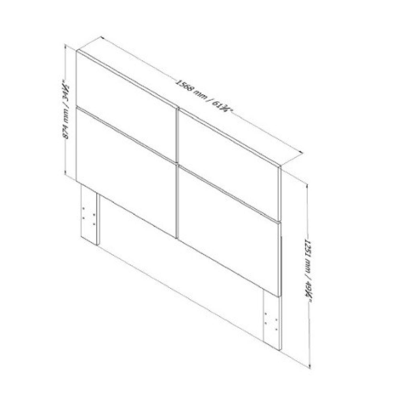 South Shore Mikka Queen Platform Bed Frame w/ Headboard in Black Oak - image-2