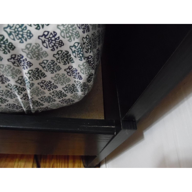 South Shore Mikka Queen Platform Bed Frame w/ Headboard in Black Oak - image-6
