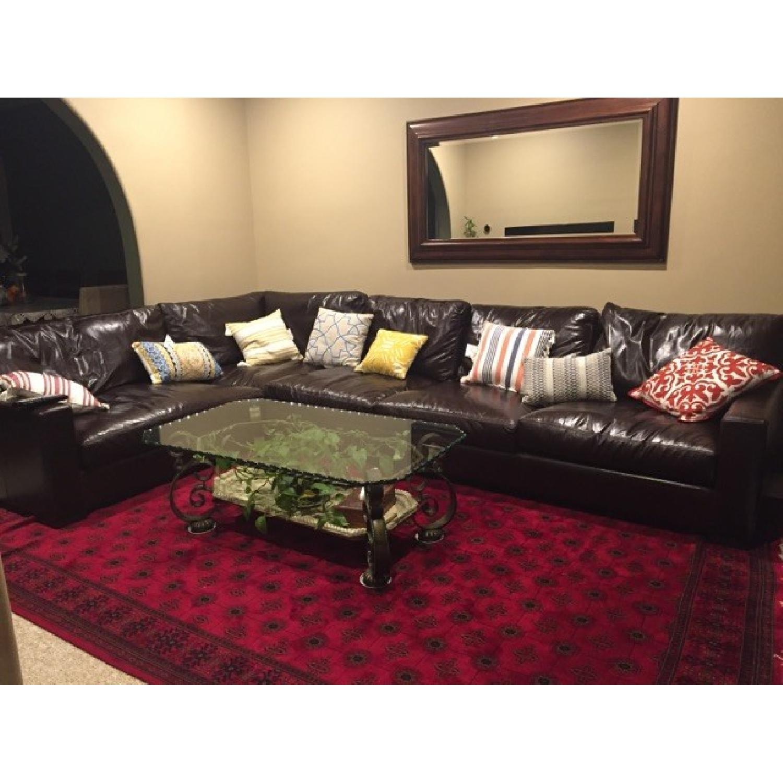 Braxton Leather Sectional Sofa - image-1