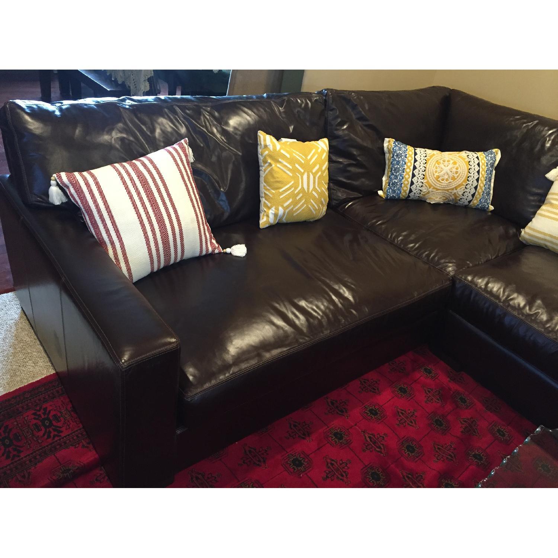 Braxton Leather Sectional Sofa - image-3
