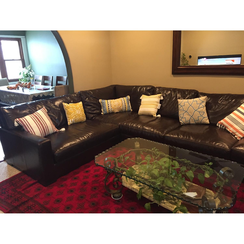 Braxton Leather Sectional Sofa - image-5