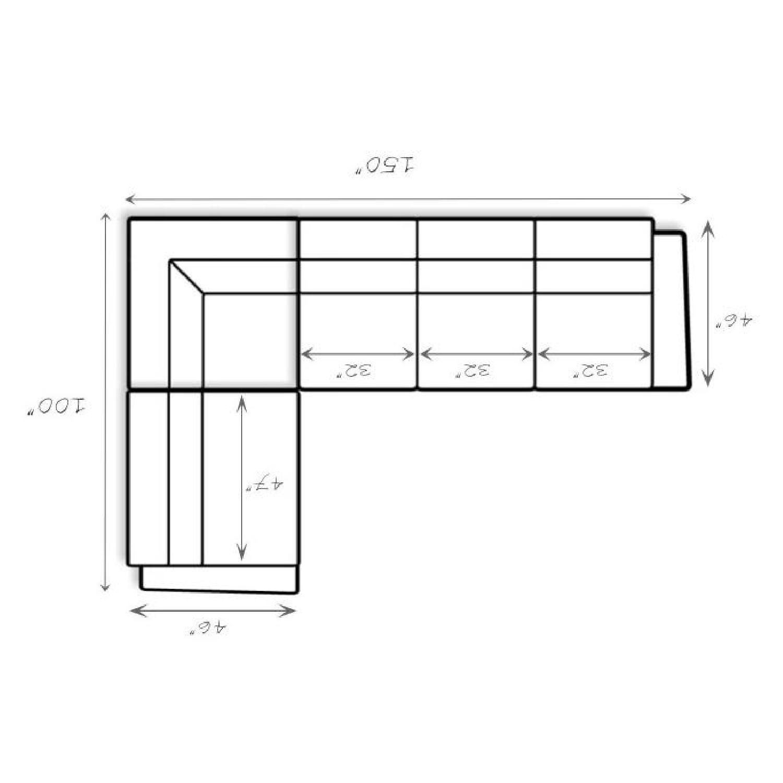 Braxton Leather Sectional Sofa - image-7