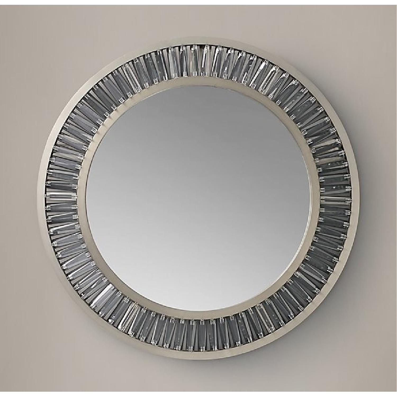 Restoration Hardware Lombard Prism Round Mirror - image-1