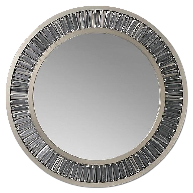 Restoration Hardware Lombard Prism Round Mirror - image-0