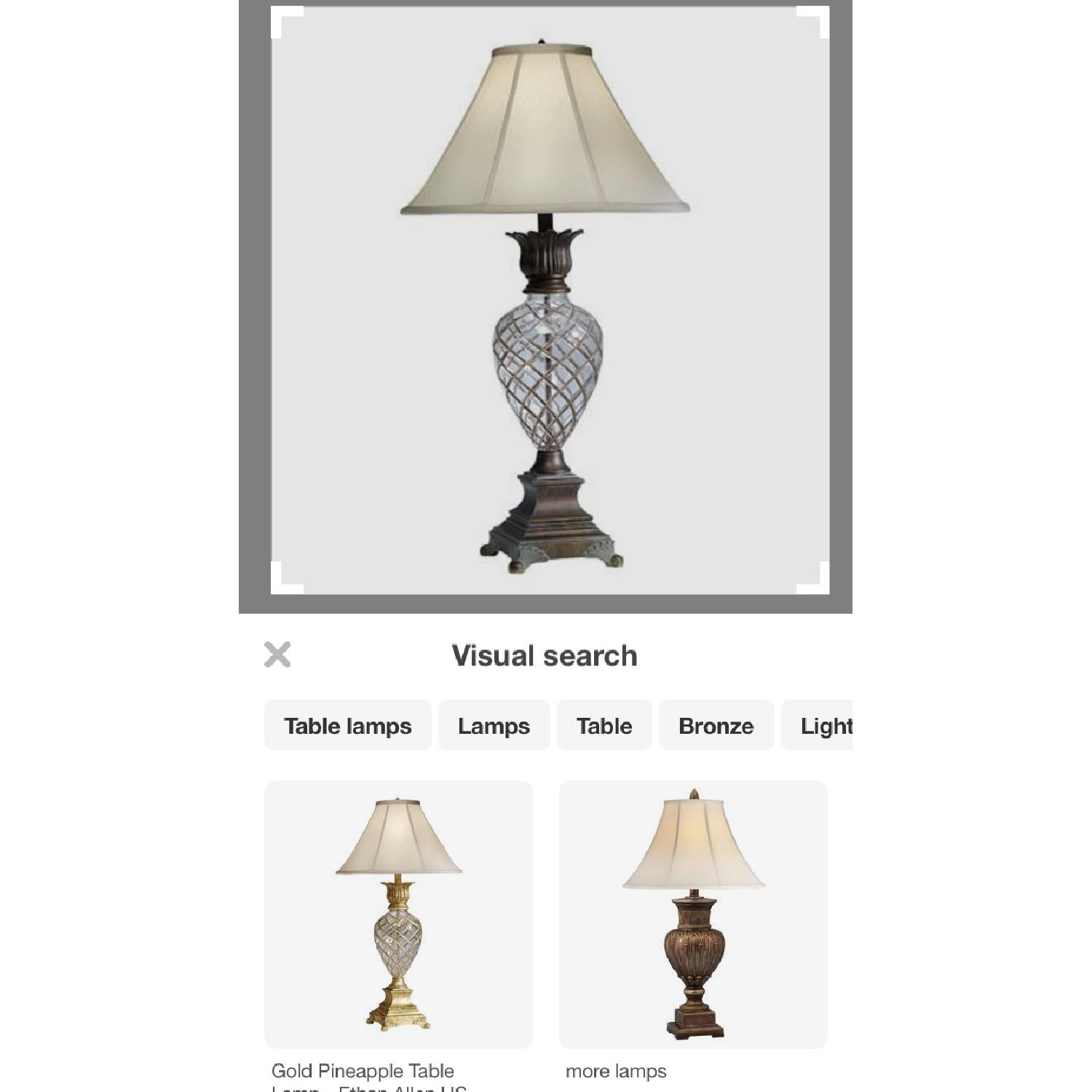 Ethan Allen Pineapple Lamps in Silver - image-1