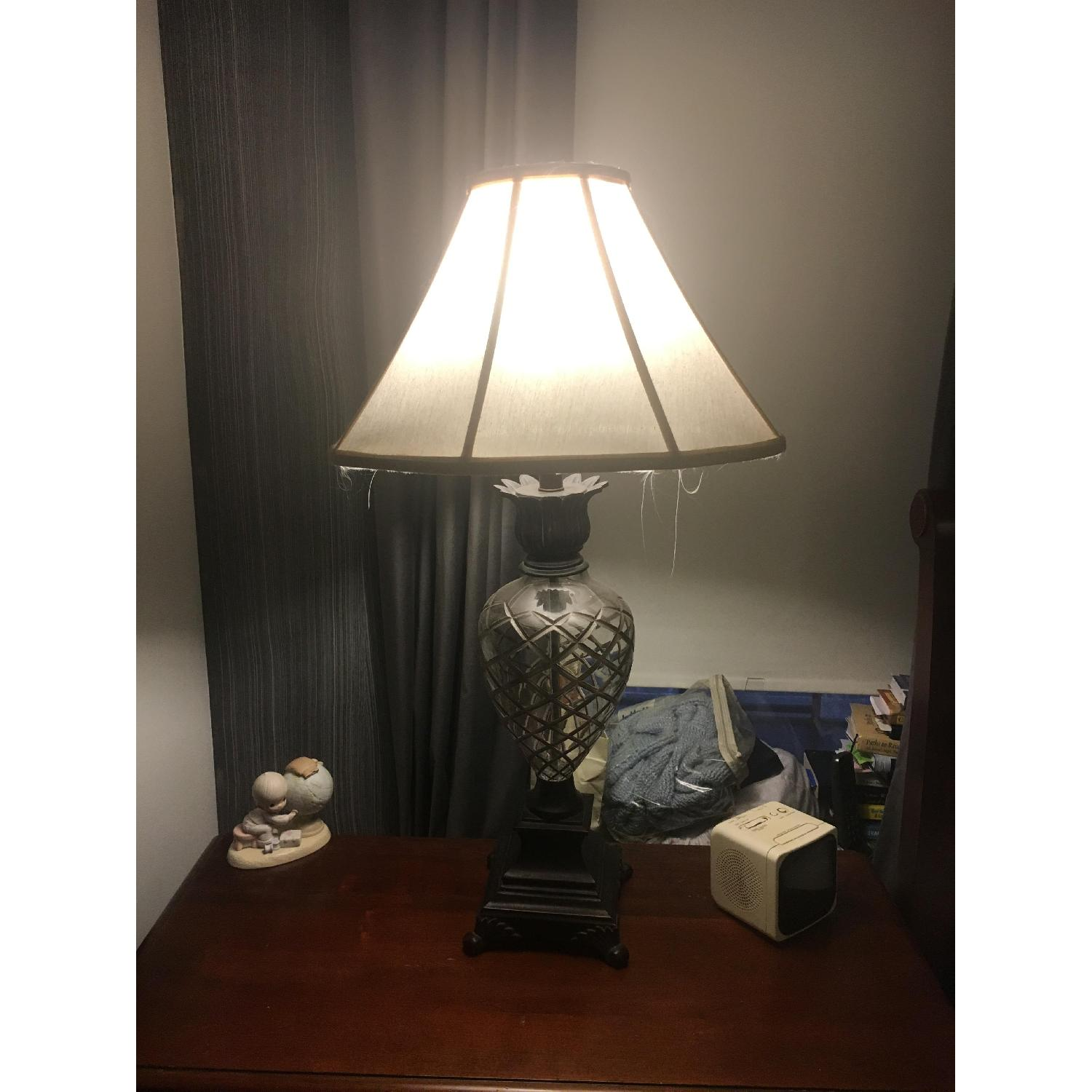 Ethan Allen Pineapple Lamps in Silver - image-2