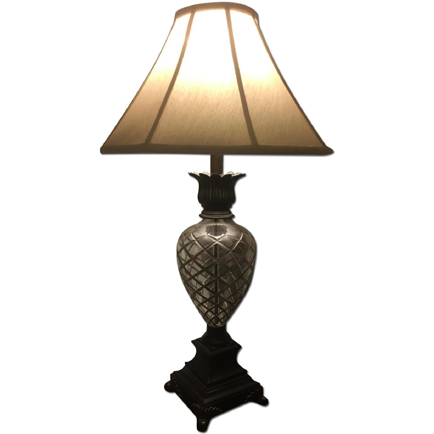 Ethan Allen Pineapple Lamps in Silver - image-0