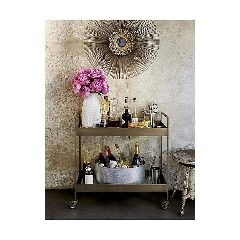 Crate & Barrel Starburst Round Wall Mirror - image-2