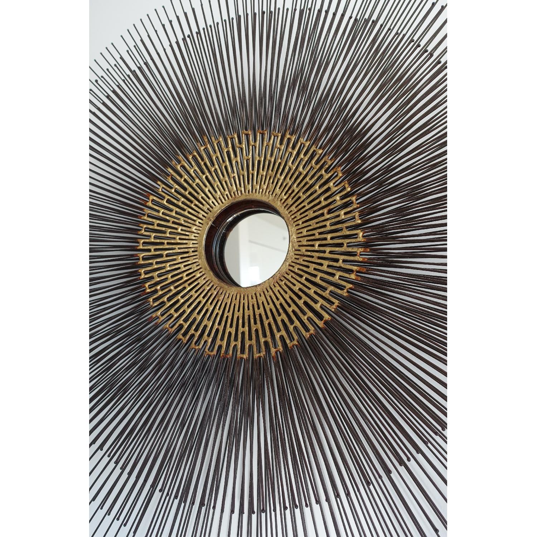 Crate & Barrel Starburst Round Wall Mirror - image-6