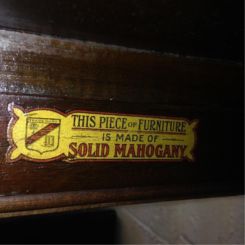 Antique Mahogany Wavy Glass Display Case - image-4