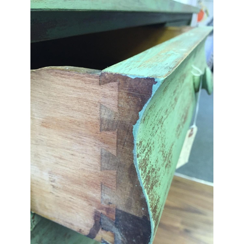 Green Antique Distressed Four Drawer Dresser - image-1