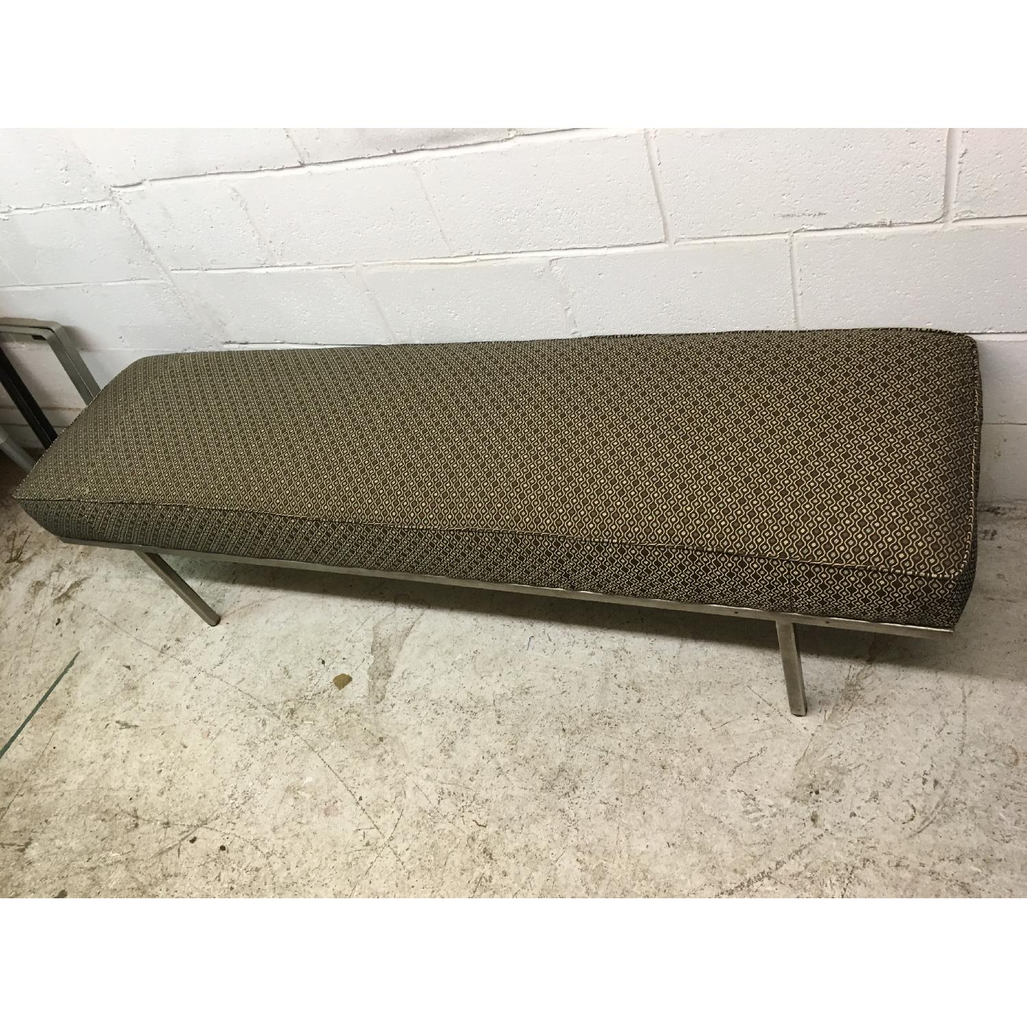 Knoll Style Mid Century Modern Chrome Bench - image-4