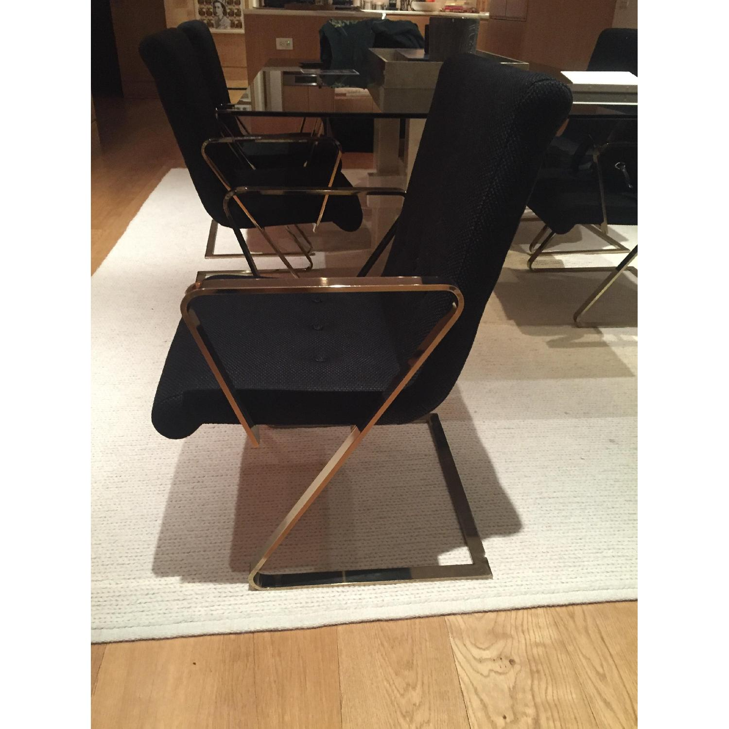 Flair Home Collection Brass Z Frame Dining Chairs - image-2