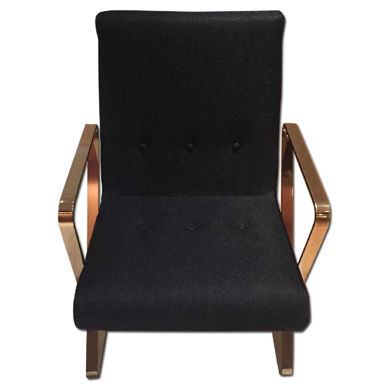 Flair Home Collection Brass Z Frame Dining Chairs - image-0