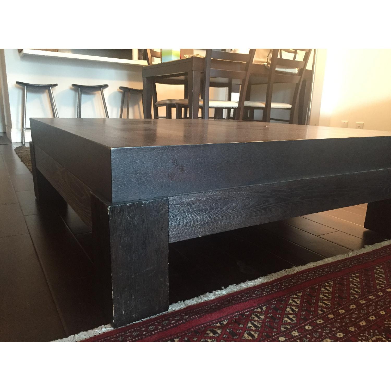 Crate & Barrel Dark-Brown Coffee Table - image-4