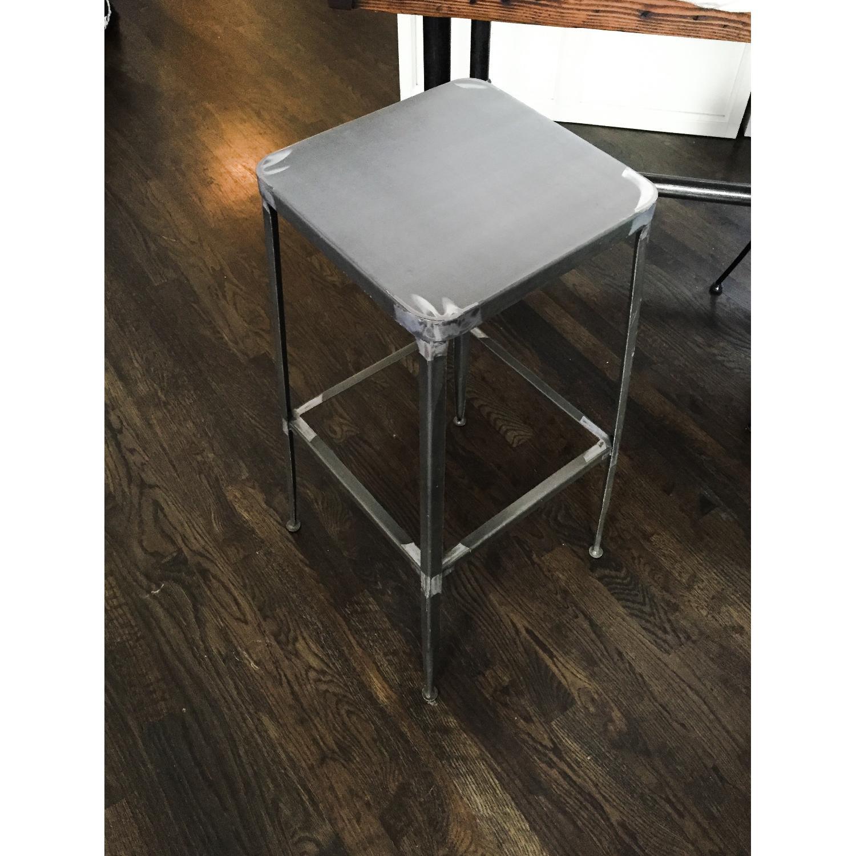 CB2 Flint Steel Bar Stool - image-5