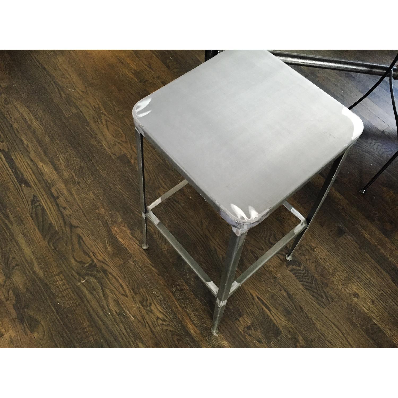 CB2 Flint Steel Bar Stool - image-6