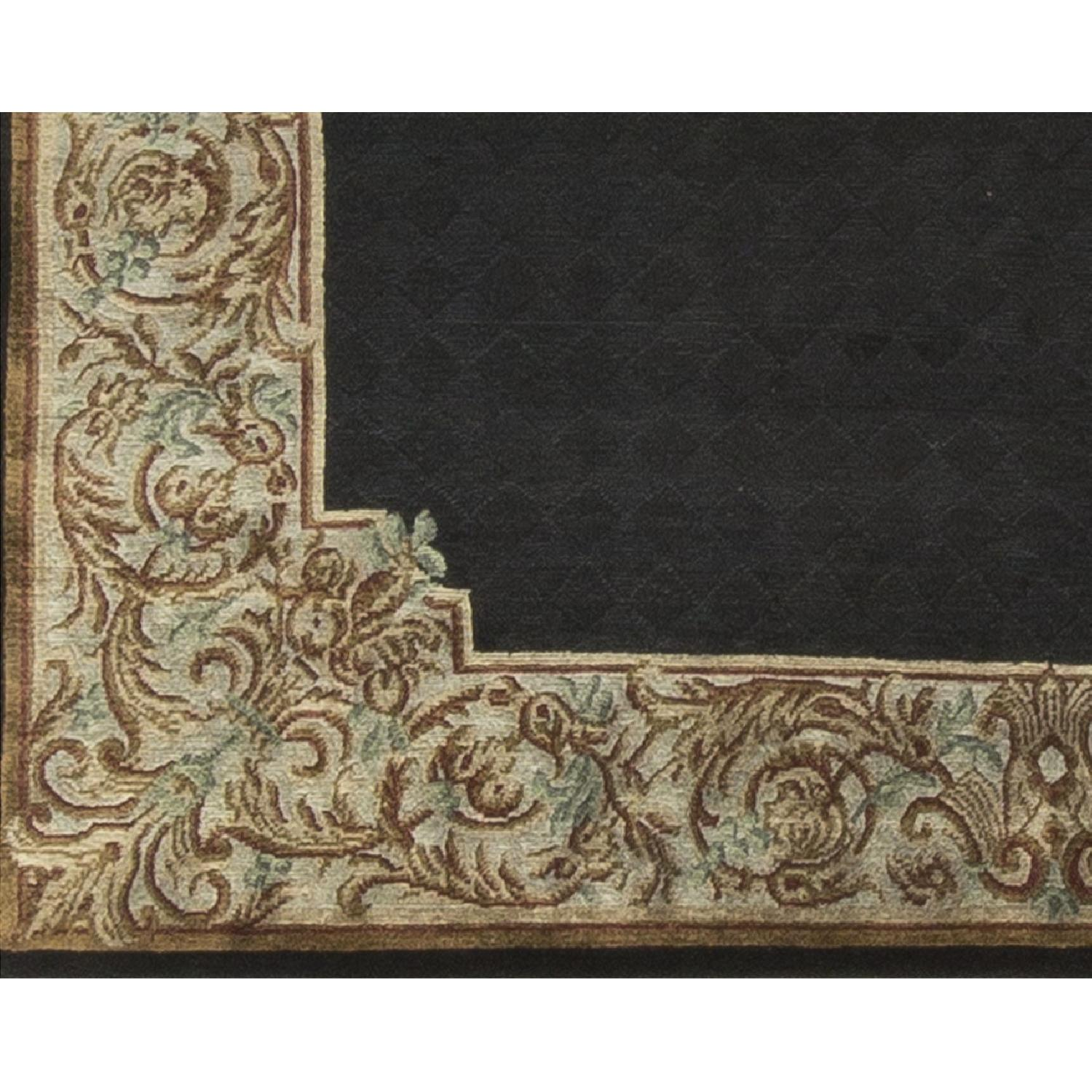 Modern Contemporary Hand Knotted Wool Rug in Black/Gold - image-2
