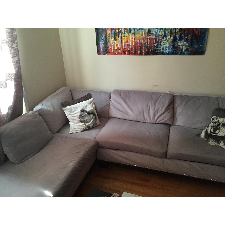 Coaster Fine Furniture Grey Sectional Sofa - image-1