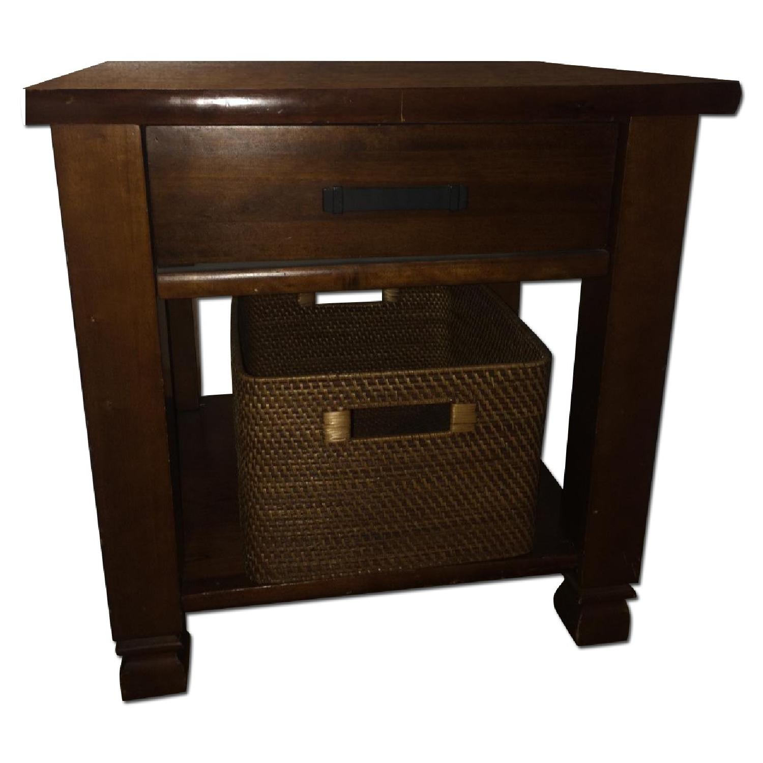 Lillian August Solid Wood Side Table - image-0