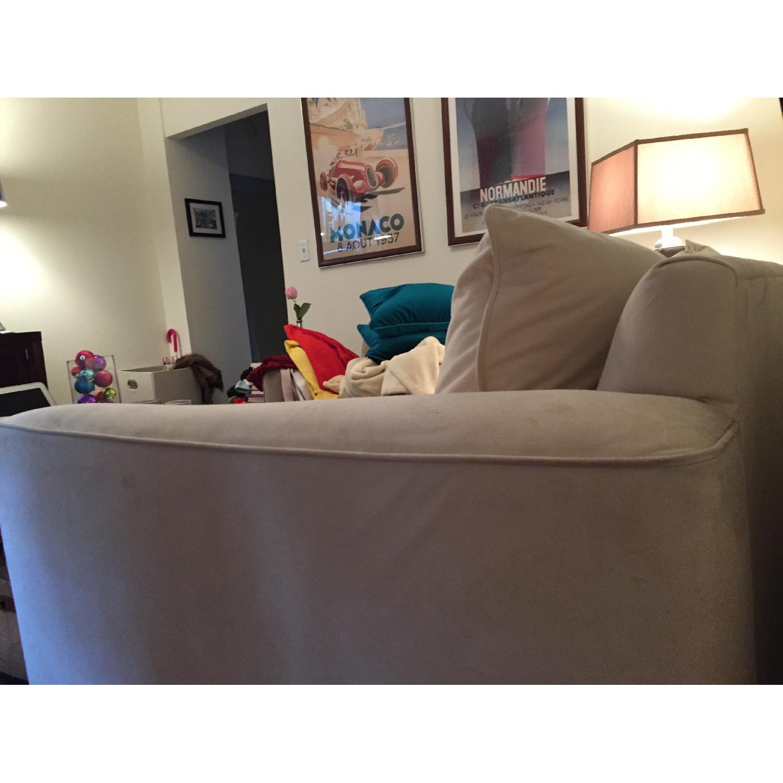 Klaussner Furniture White Loveseat - image-2