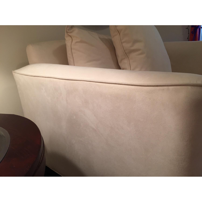 Klaussner Furniture White Loveseat - image-3