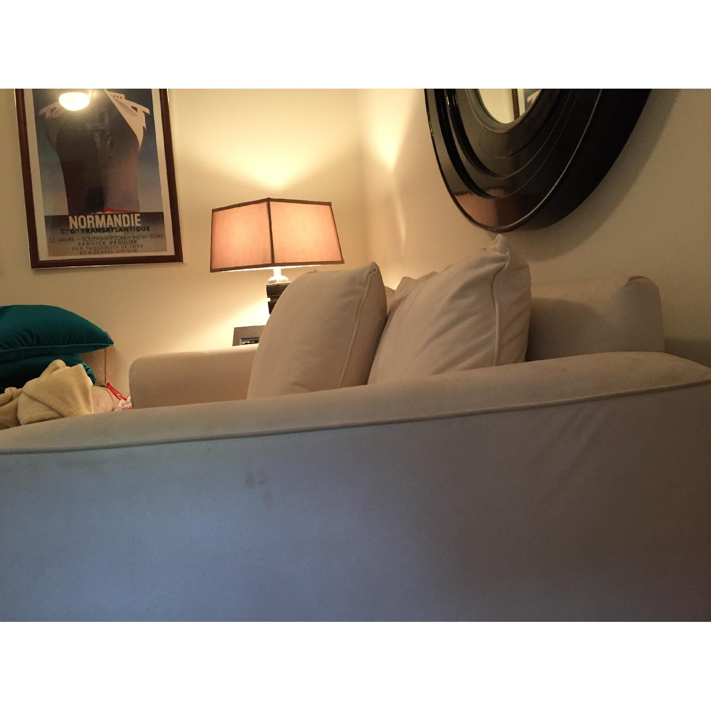 Klaussner Furniture White Loveseat - image-5