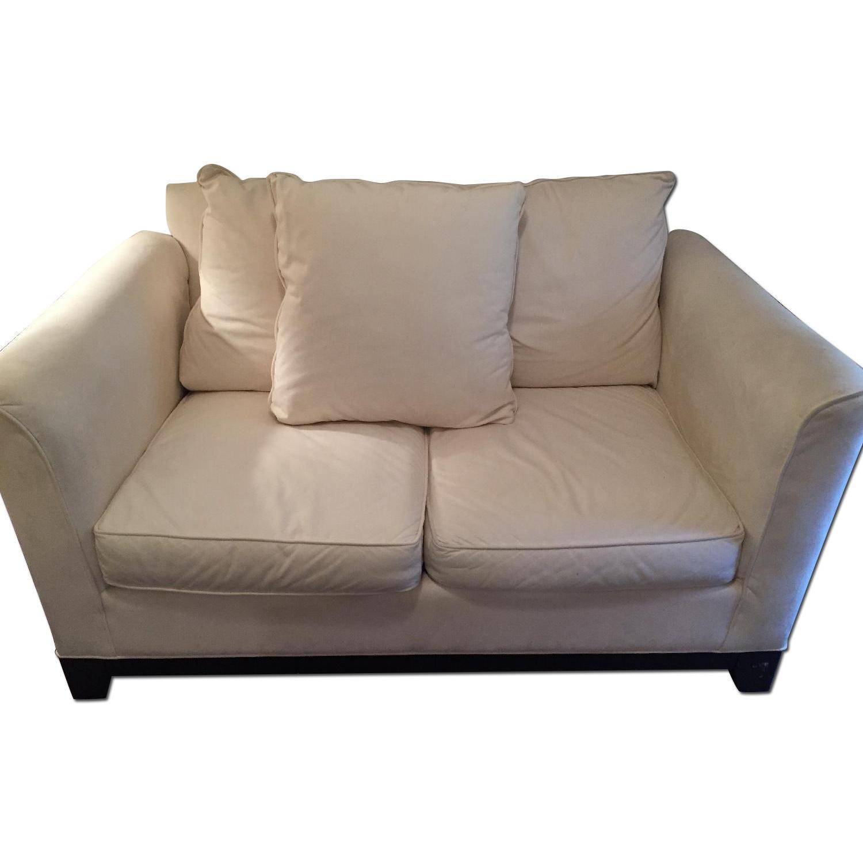 Klaussner Furniture White Loveseat - image-0