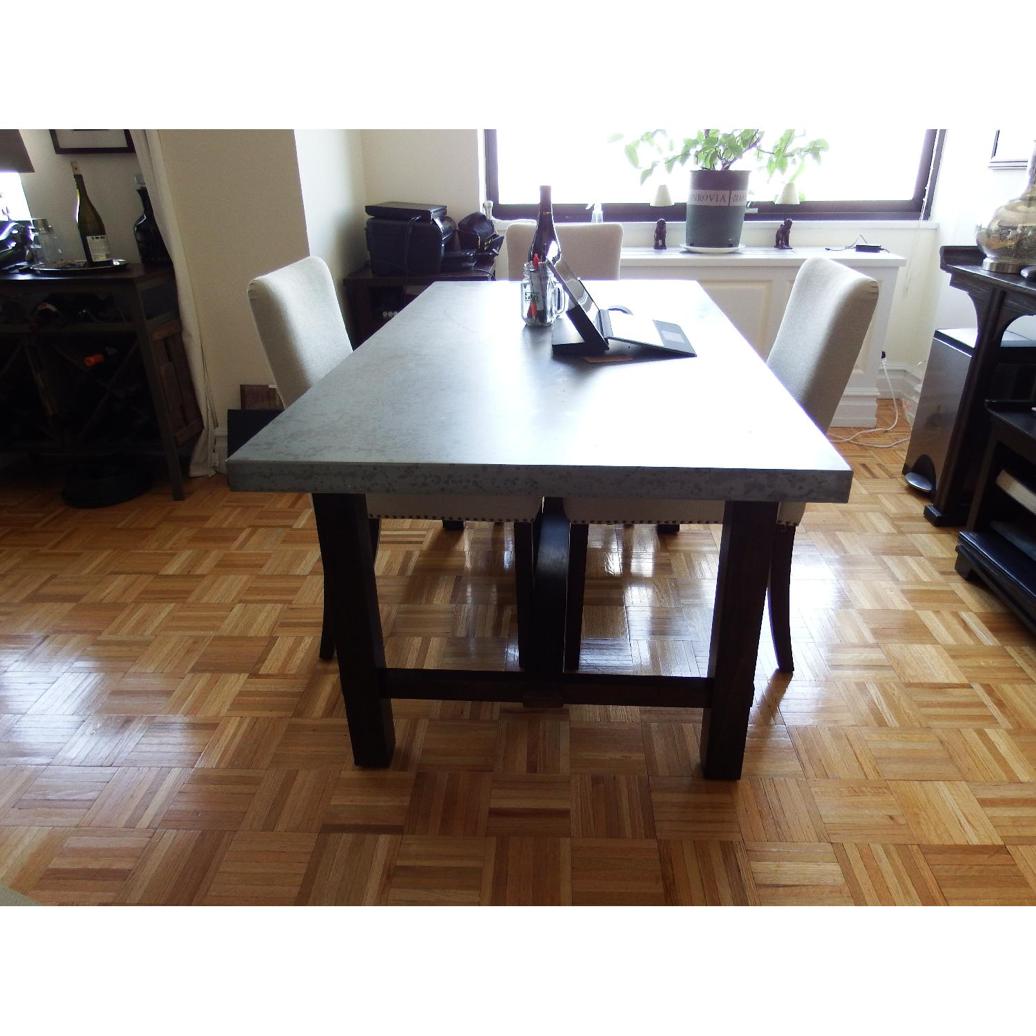 Zinc Top Dining Table - image-1