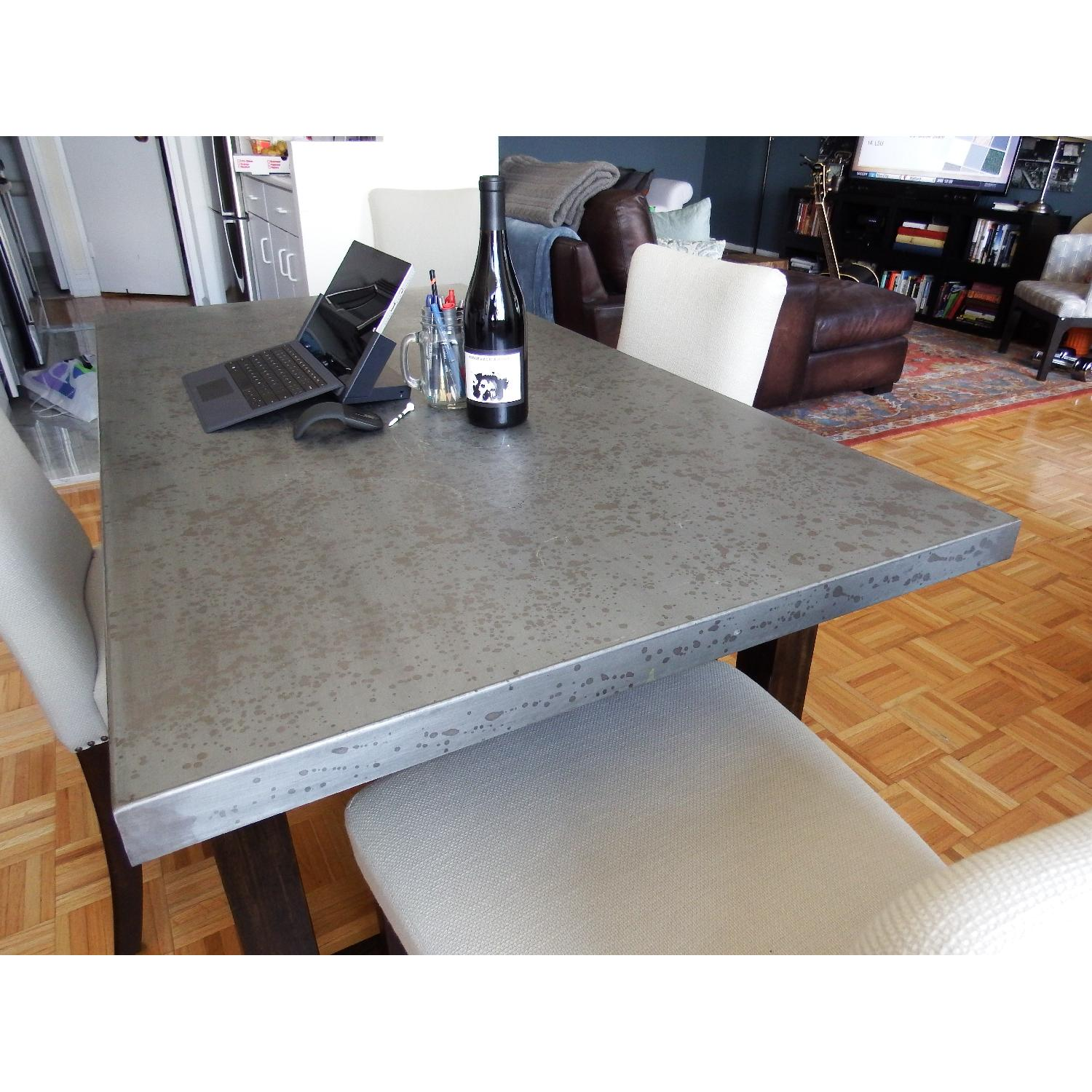 Zinc Top Dining Table - image-3