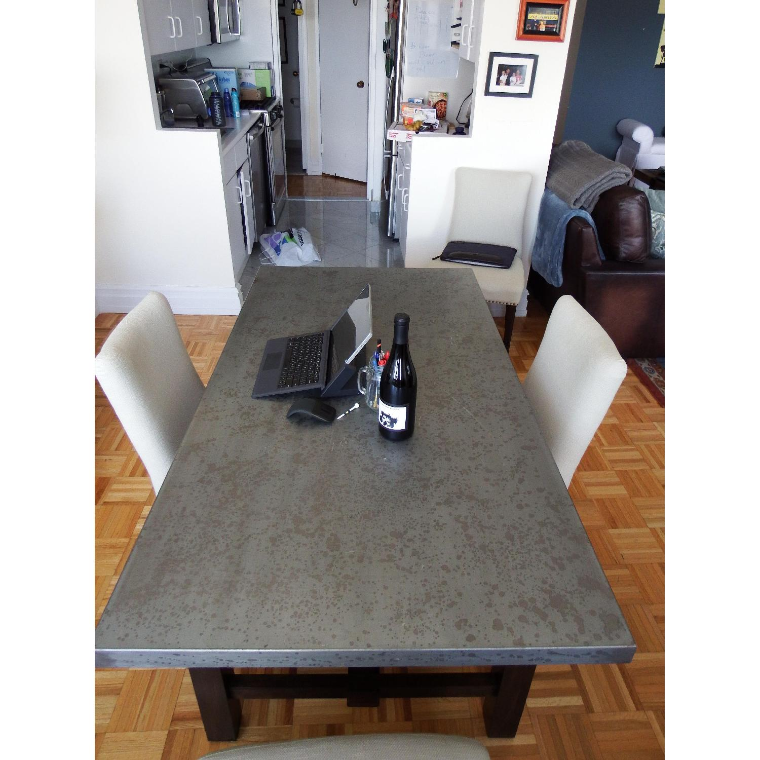 Zinc Top Dining Table - image-4