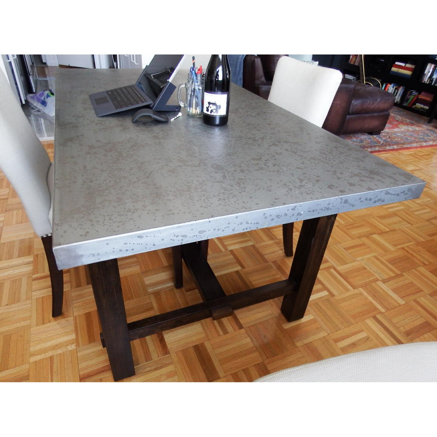 Zinc Top Dining Table - image-5