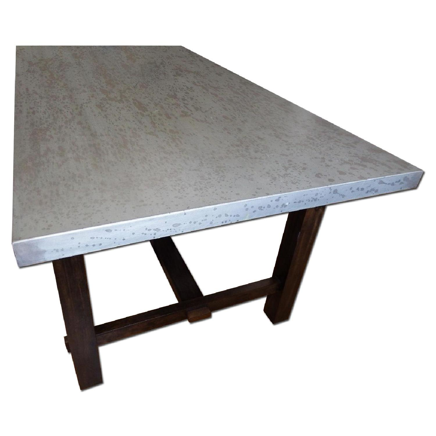 Zinc Top Dining Table - image-0