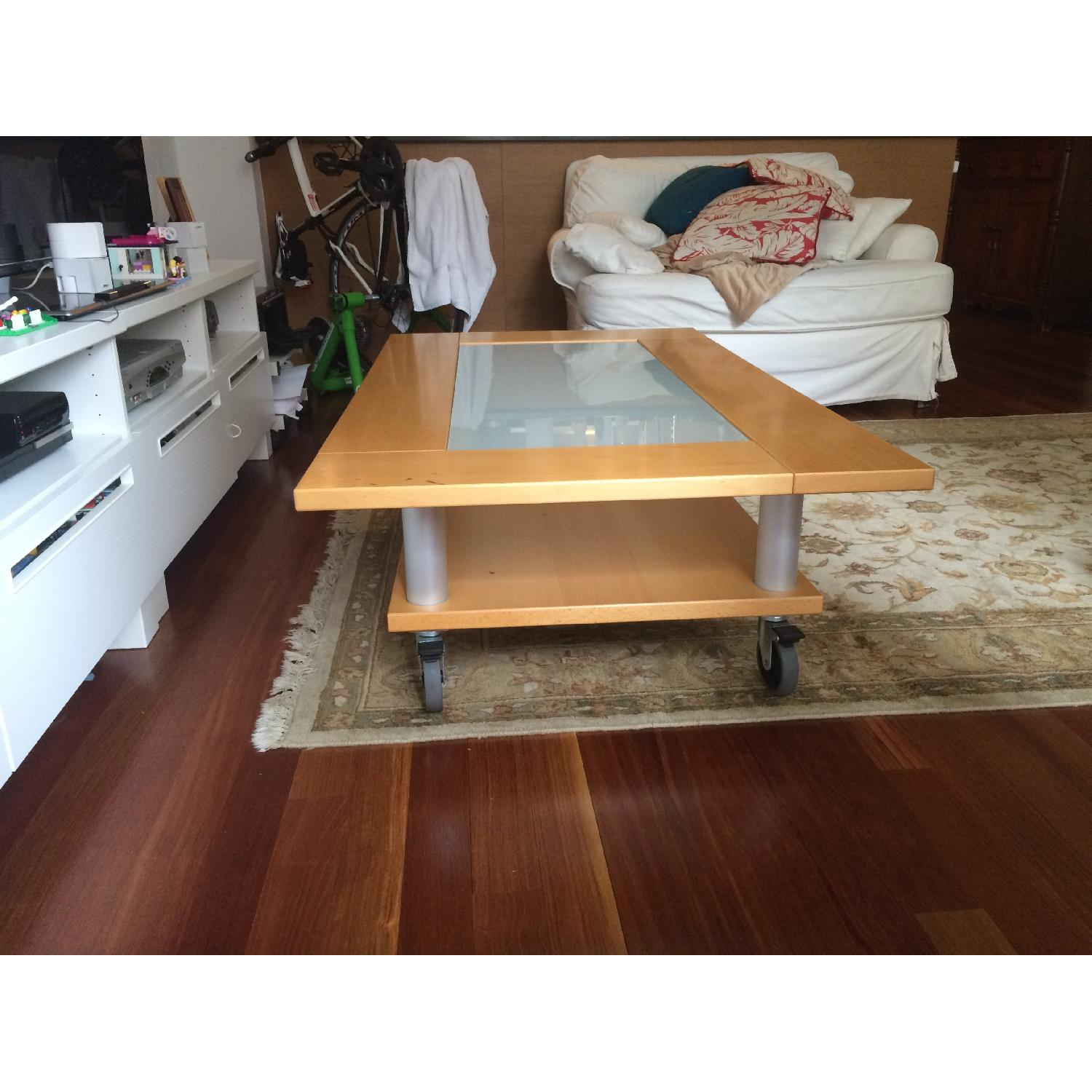 Two-Tier Coffee Table on Wheels - image-2