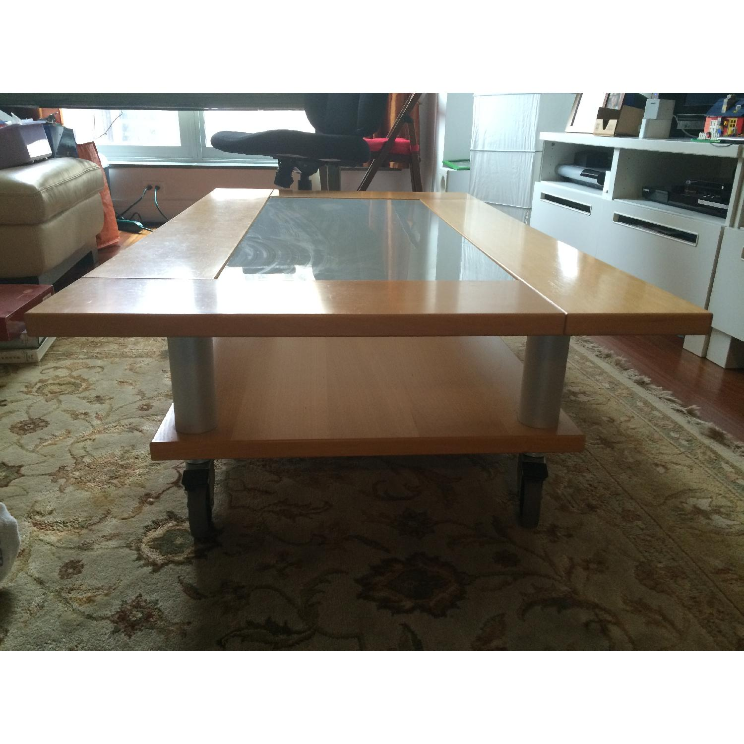 Two-Tier Coffee Table on Wheels - image-3