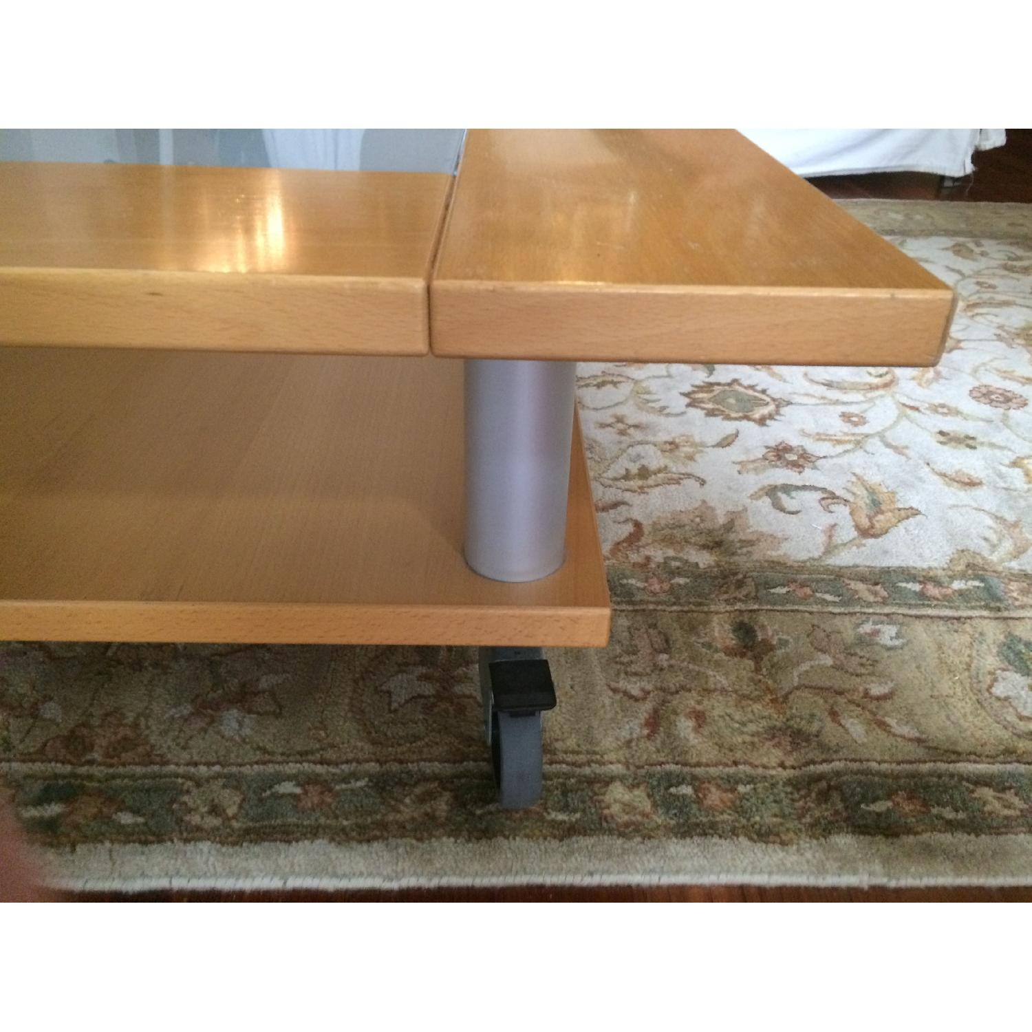 Two-Tier Coffee Table on Wheels - image-6