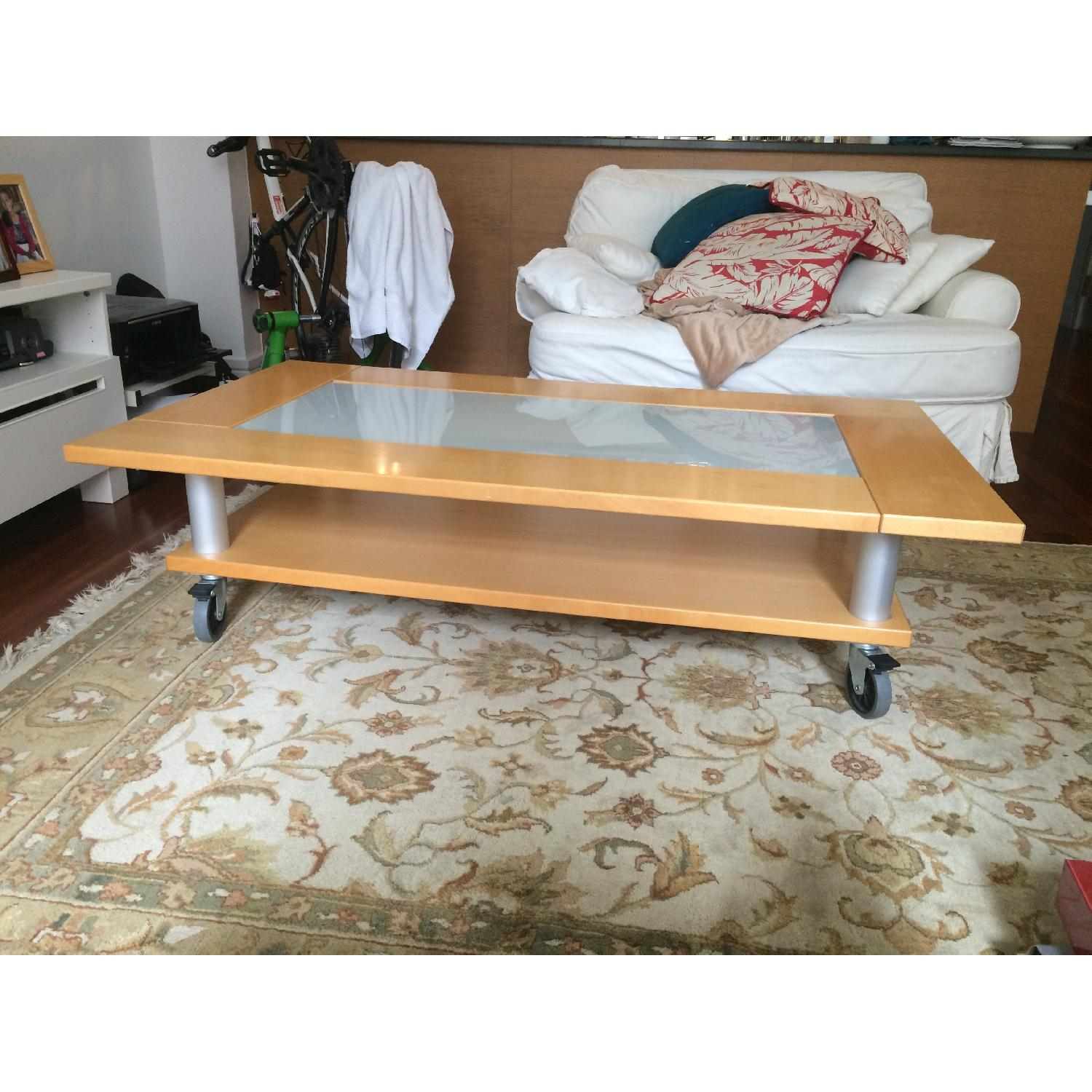 Two-Tier Coffee Table on Wheels - image-8