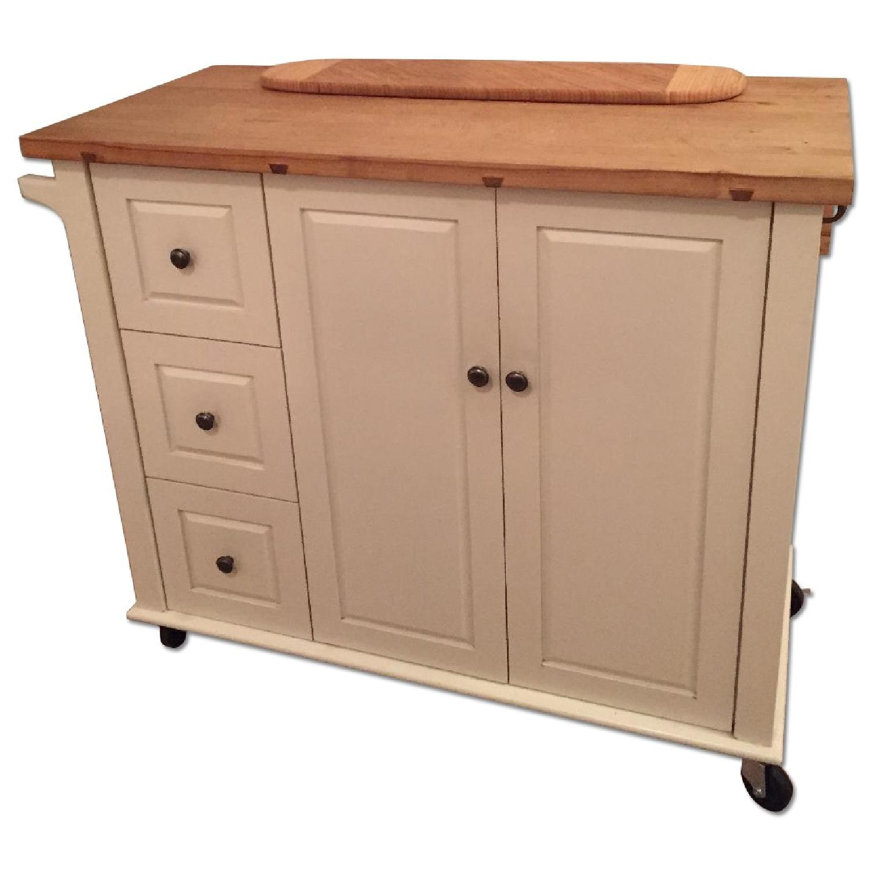 Crate & Barrel Kitchen Island - image-0