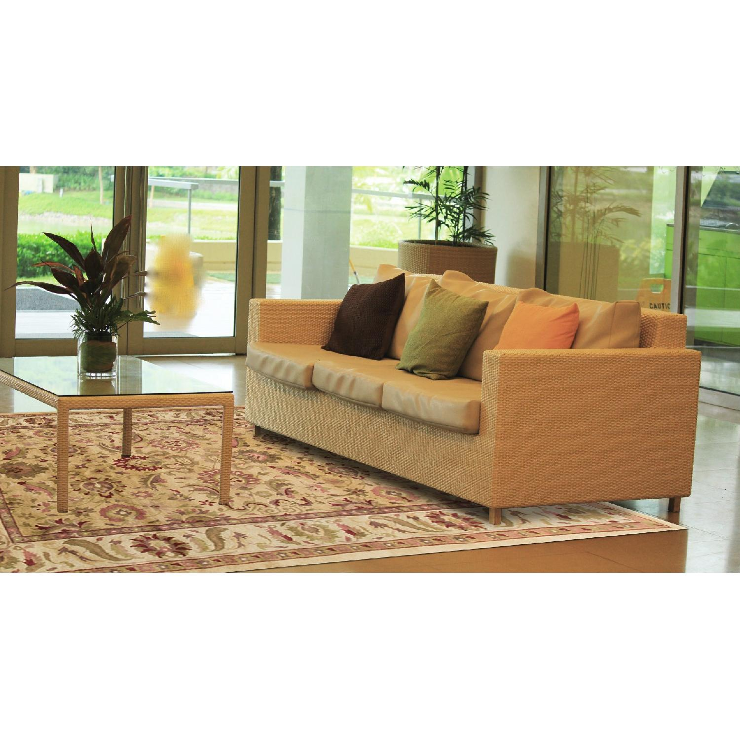 Modern Contemporary Hand Knotted Wool Rug in Multi Colors - image-3