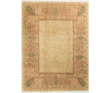 Modern Contemporary Hand Knotted Wool Rug in Gold