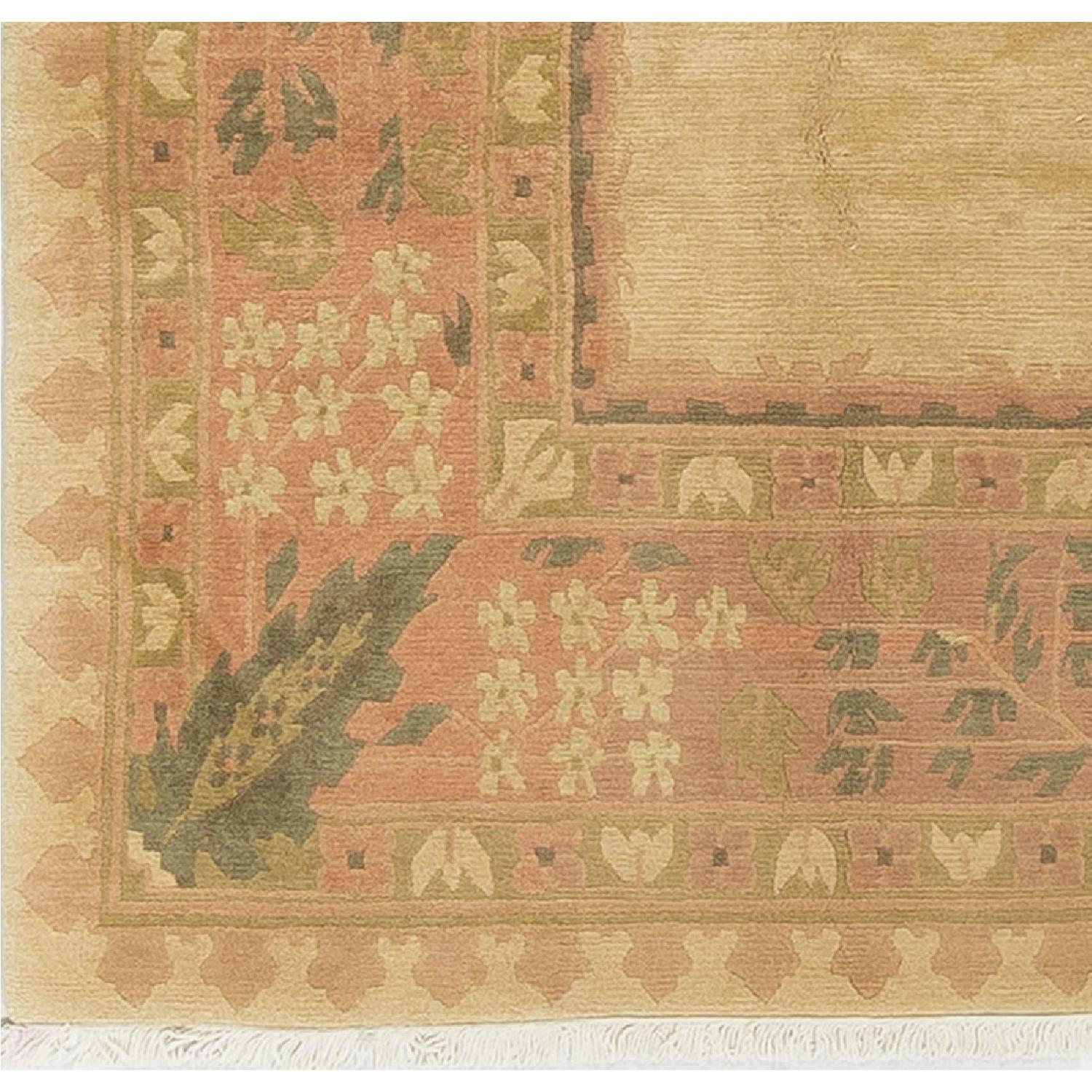 Modern Contemporary Hand Knotted Wool Rug in Gold - image-2