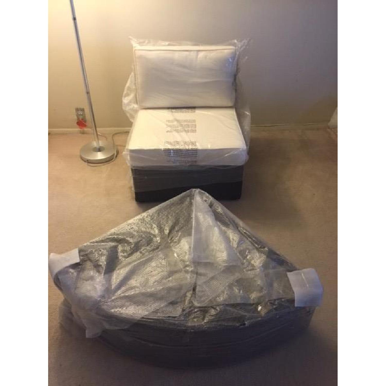 Christopher Knight Home Santa Cruz Outdoor Grey Wicker Armless Chair & Table - image-5