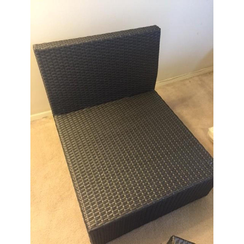 Christopher Knight Home Santa Cruz Outdoor Grey Wicker Armless Chair & Table - image-7