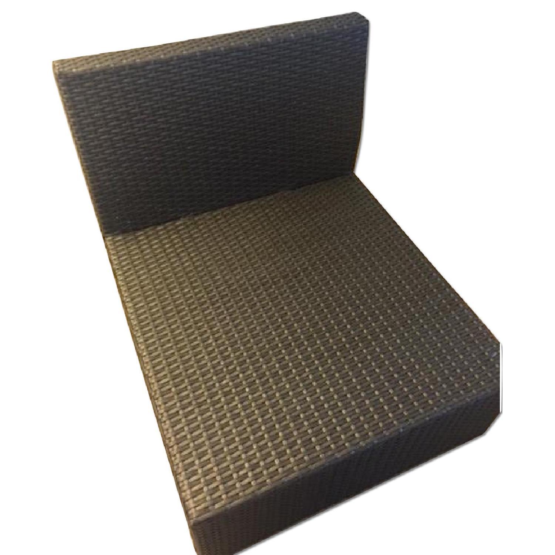 Christopher Knight Home Santa Cruz Outdoor Grey Wicker Armless Chair & Table - image-9