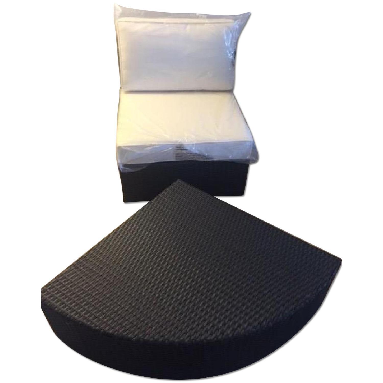 Christopher Knight Home Santa Cruz Outdoor Grey Wicker Armless Chair & Table - image-0