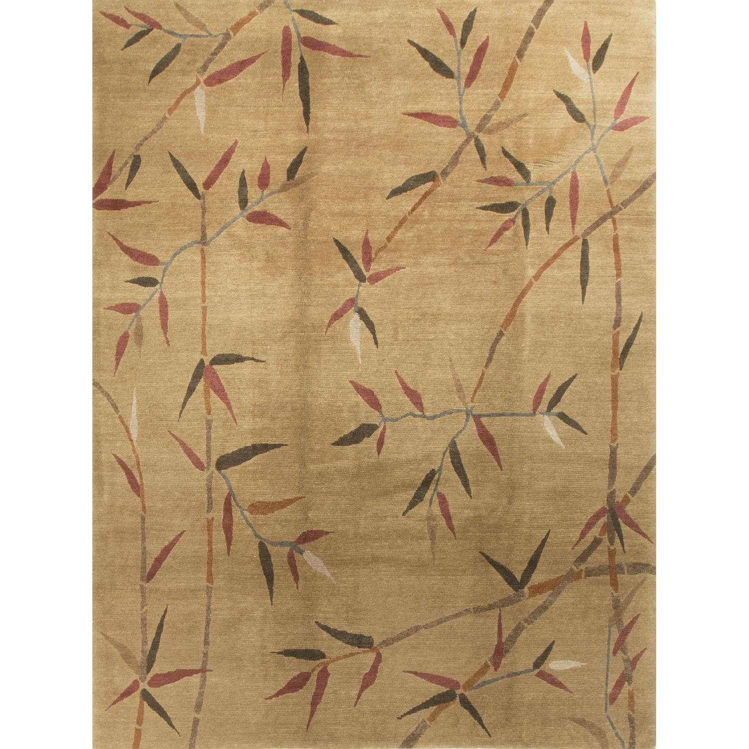 Modern Contemporary Hand Knotted Wool Rug in Brown/Red - image-0