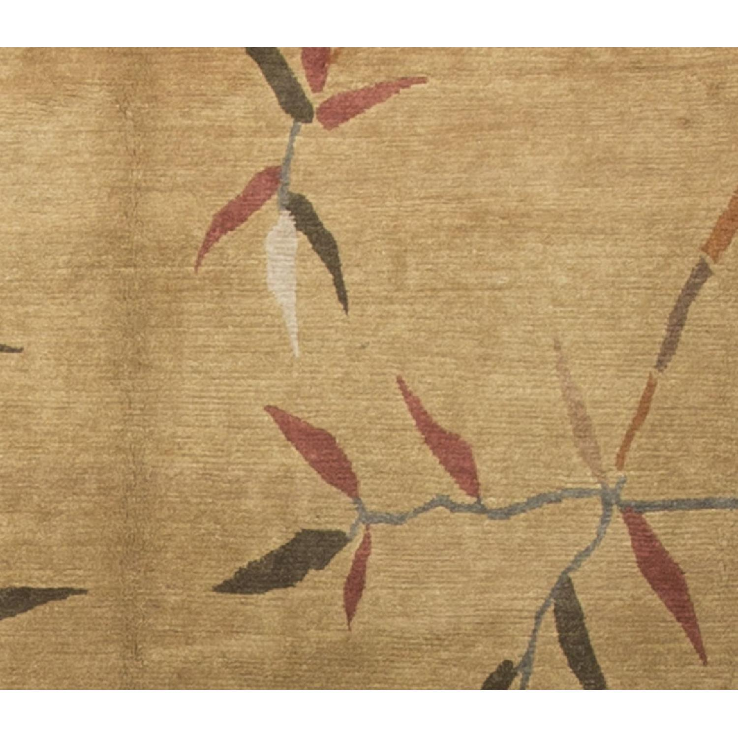 Modern Contemporary Hand Knotted Wool Rug in Brown/Red - image-1